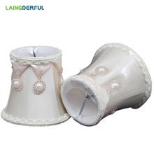 W stylu Art Deco materiałowy abażur w stylu nordyckim jasny pomarańczowy abażur do kryształ Świecznik lampa ścienna tkanina luksusowa odcień światła cheap Abażury 11cm iron LAINGDERFUL 0 2kg 2 Years Fabric Lamp shade Light Orange 80*120*110mm Art Deco Light Shade suit for crystal candle chandelier wall lamp