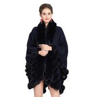 women fake fur shawls and wraps Lady plus size pashimina fake fur collar faux fox fur scarf raccoon fur capes winter female fas