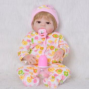 Boneca bebes reborn boy Full Body Silicone Vinyl Reborn Babies Dolls 57cm Realistic Newborn Dolls Children dolls surprise gift