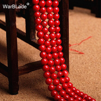 Natural Stone Dark Red Coral Beads Round Loose Beads DIY Bracelet Necklace Jewelry Making
