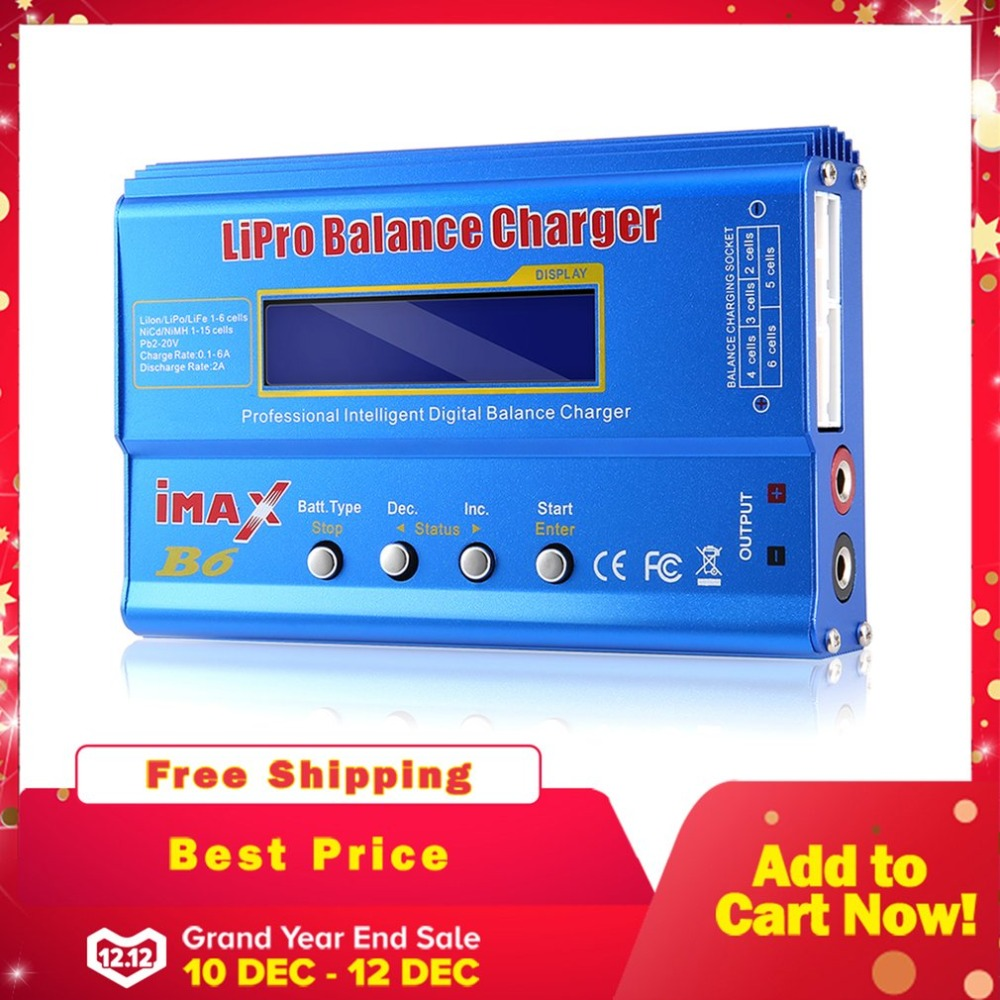 IMAX B6 Digital RC Lipo NiMh font b Battery b font Balance Charger AC POWER 12V