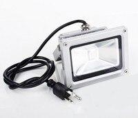 (10 teile/los) 85-265V 10W 20W 30W 50W 100W RGB Refletor Foco Außen Outdoor LED flutlicht Lampe Spot Fernbedienung Power Stecker