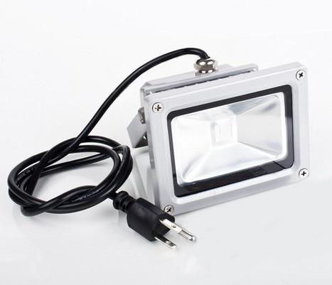 (10pcs/lot) 85-265V 10W 20W 30W 50W 100W RGB LED Floodlight Outdoor LED Flood light lamp spot + Remote Control+Power Plug