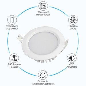 Image 3 - 6ワットrgb + cct防水ledダウンライトFUT063 IP54 220 12v凹型ledラウンド天井パネルスポットライト屋内リビングルームのバスルーム
