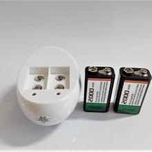 2 шт./лот 9v перезаряжаемая батарея большой емкости 2000mah 9V NiMH батарея+ Универсальный 9v AA AAA 18650 14500 CR123A набор зарядного устройства