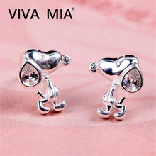 цена на Dachshund Dog Stud Kids Earring Lovely Animal Stud Earrings Women Girls Kids Pet Lover Gift