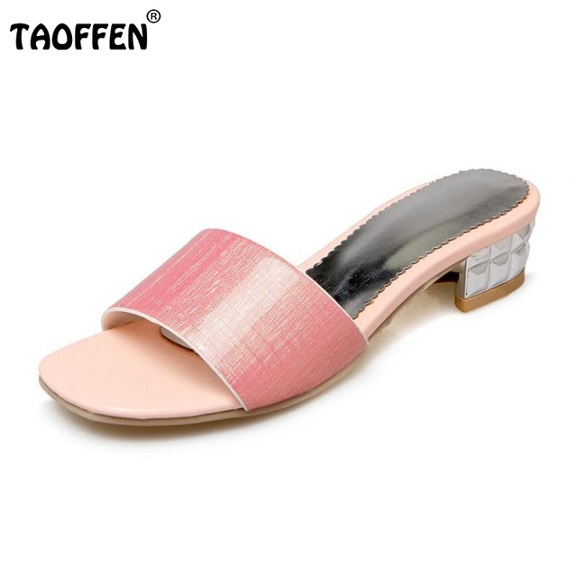 TAOFFEN Damen Flach Sandalen Strand Schuhe