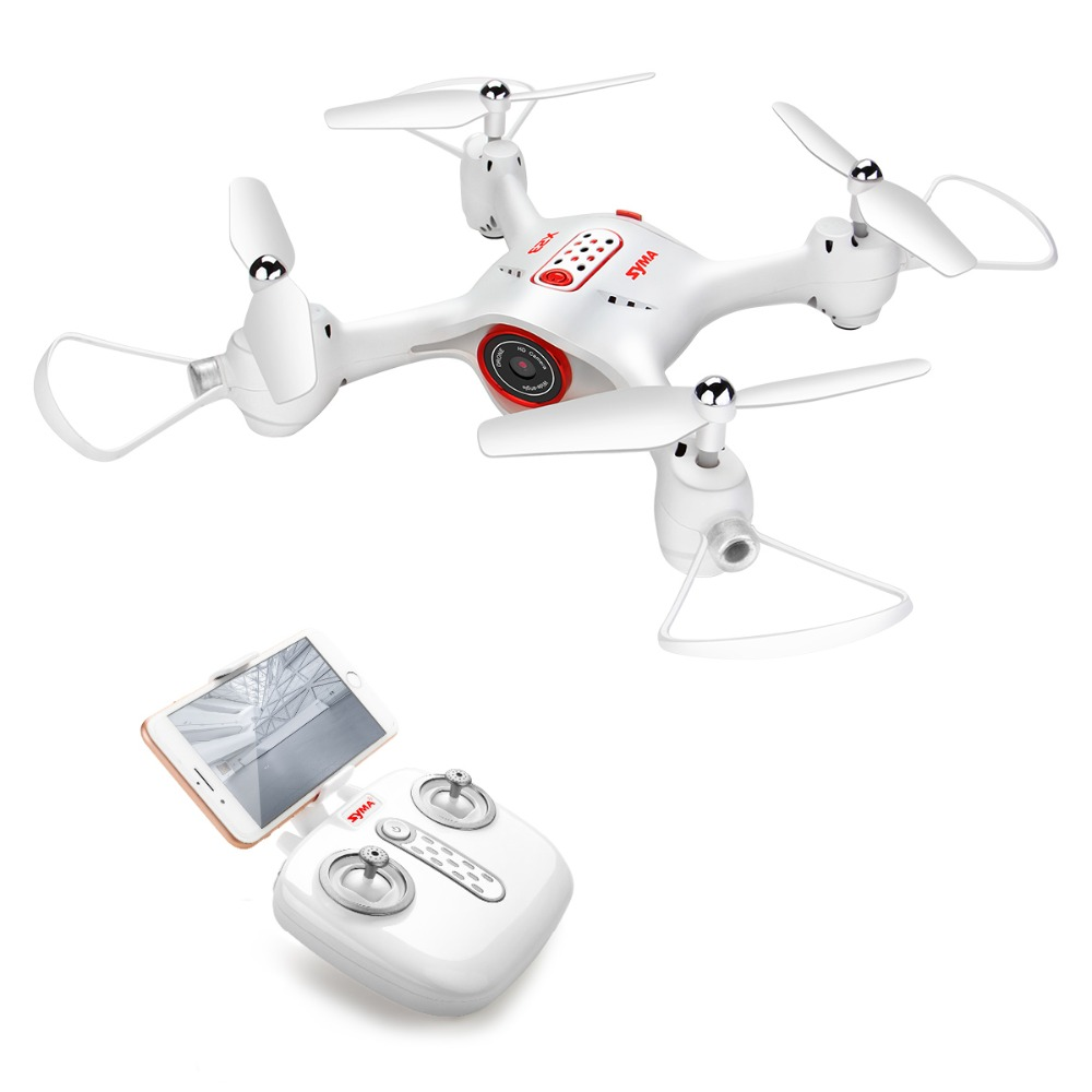 SYMA X23W Quadricoptère FPV Transmission En temps Réel Wifi Sans Tête Modèle RC Hélicoptère Mini Drone avec Caméra Hélicoptère RC