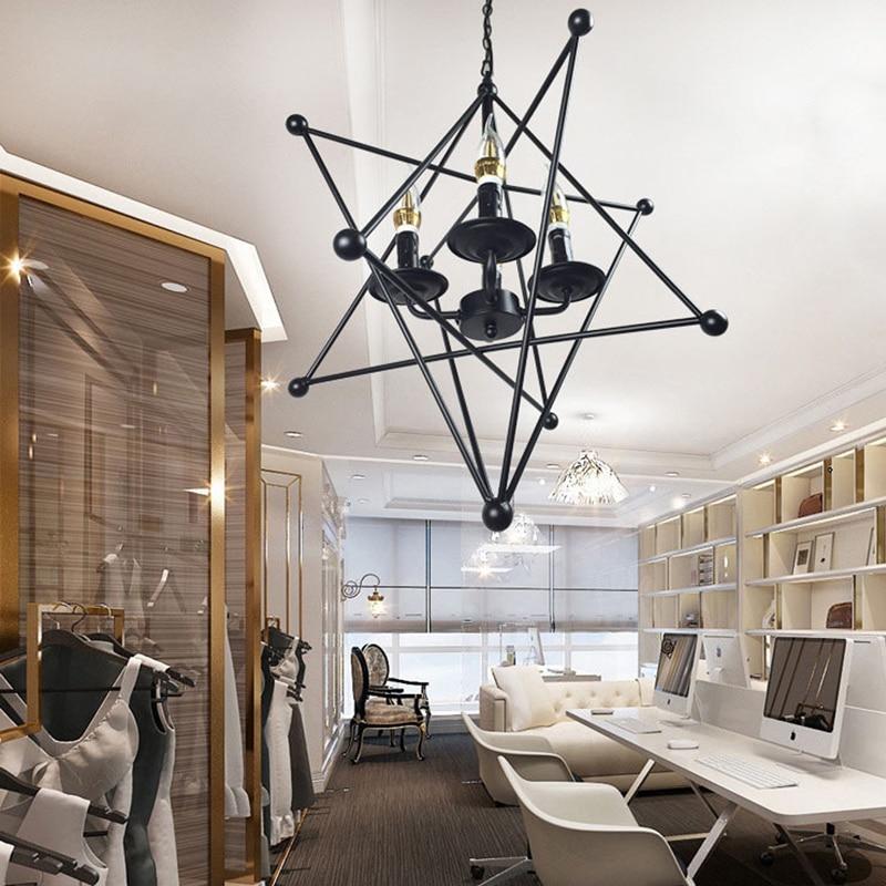 FUMAT lampe suspension nordique LED grande ourse lampe à main industrielle Loft fer barre à café luminaire suspendu luminaire suspension vintage - 4