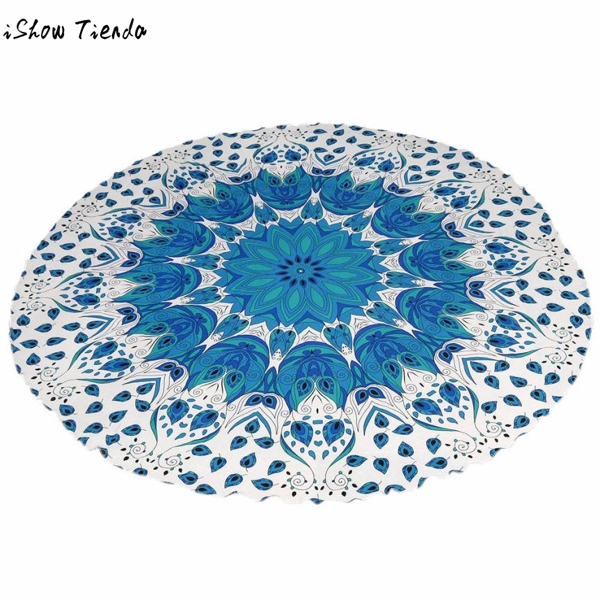 1PC Round Beach Pool Bikini Home Shower Towel Blanket Table Cloth Yoga Mat Toalla Microfiber