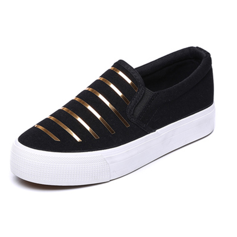 Exquisite Personalized Design Womens Shoes Spring Stripes Canvas Shoes Women Casual Vulcanized Shoes, Breathable Shopping Shoes