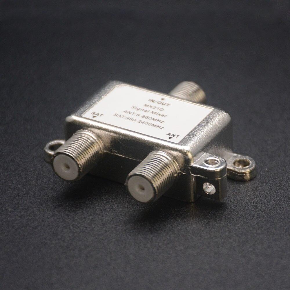 2 në 1 Sinjalizim Satelitor dyblexues Satellite Coaxial Diplexer UHF - Audio dhe video në shtëpi - Foto 3