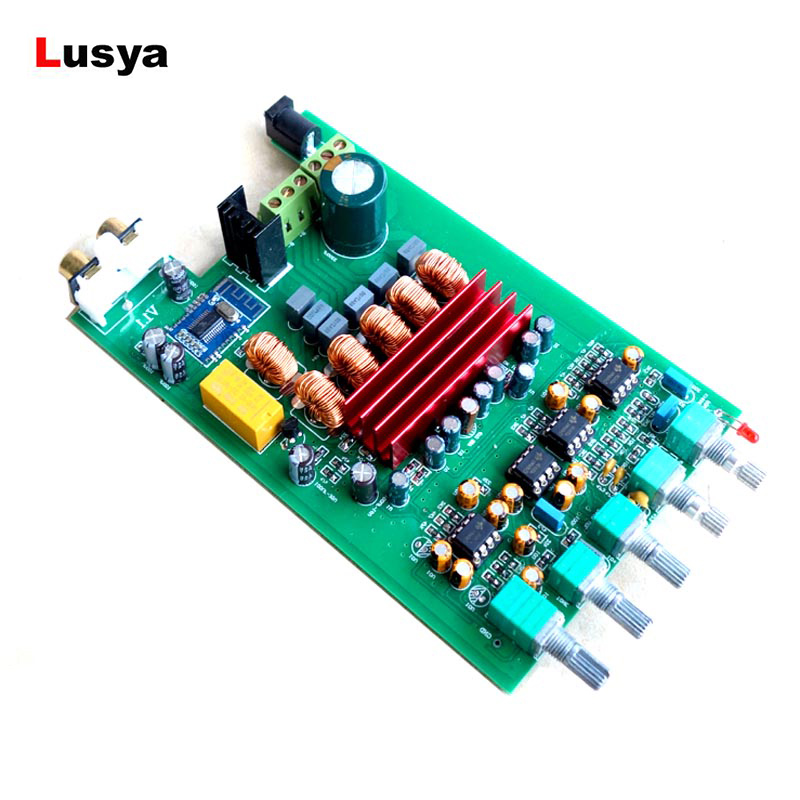 HIFI Bluetooth AUDIO Digital Amplifier Board DP1 <font><b>TPA3116</b></font> <font><b>D2</b></font> NE5532 * 4 <font><b>2.1</b></font> Subwoofer Power Amplificador Board 50W * 2 + 100W image