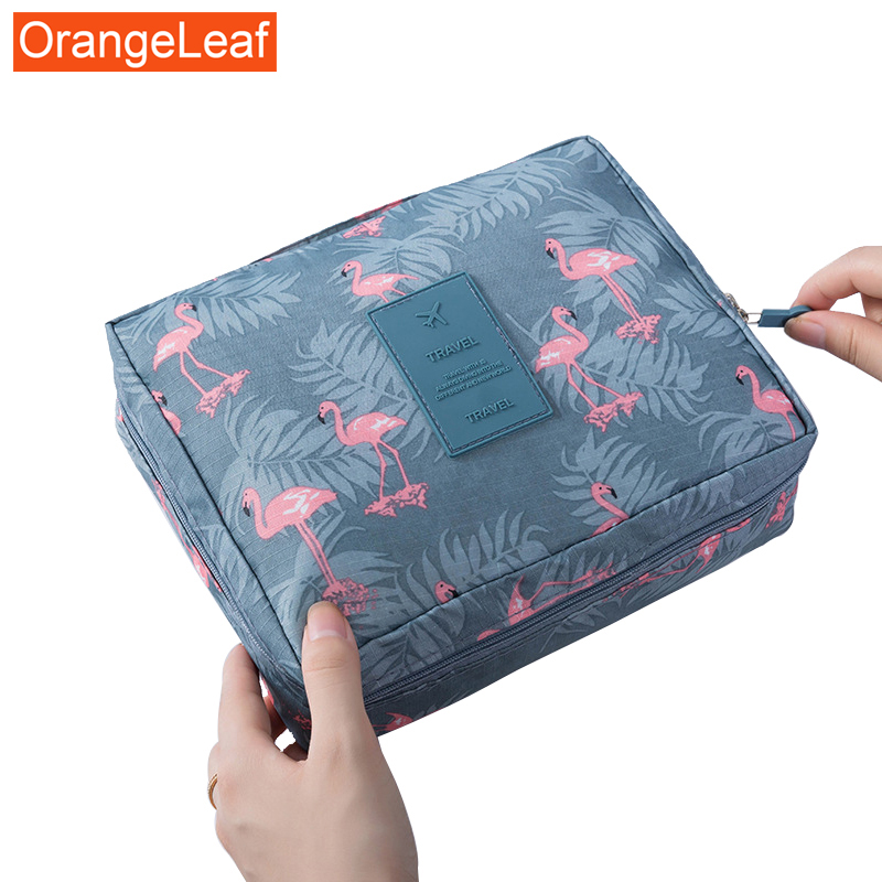Hot Sale Zipper Man Women Makeup Bag Travel Cosmetic Bag Nylon Makeup Case Waterproof Toiletries Organizer  Beauty Kit