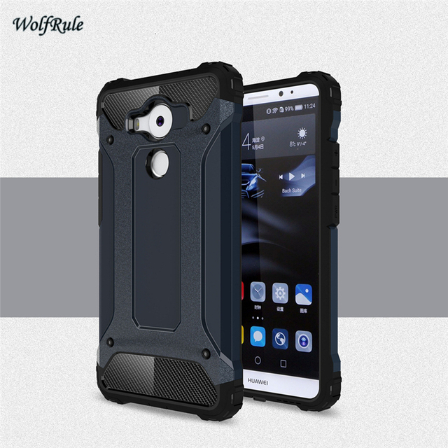 Case Huawei Mate 8 Cover Anti-knock Rubber + Plastic Case For Huawei...