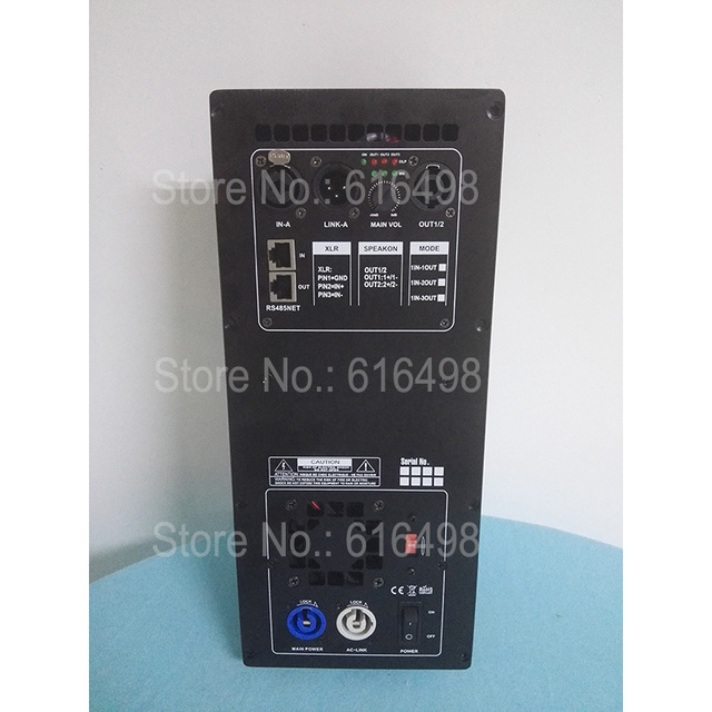 High Power 3 way Professional Speaker Plate Amplifier 1 input 3 output  Class D Amplifier Board With DSP processor around