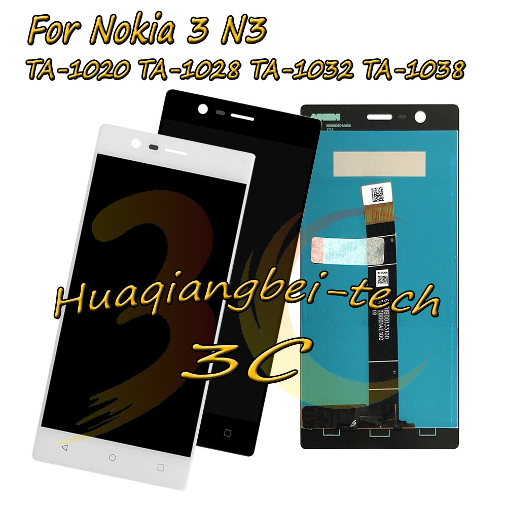 5.0'' For Nokia 3 N3 TA-1020 TA-1028 TA-1032 TA-1038 Full LCD DIsplay + Touch Screen Digitizer Assembly For Nokia 3 100% Tested