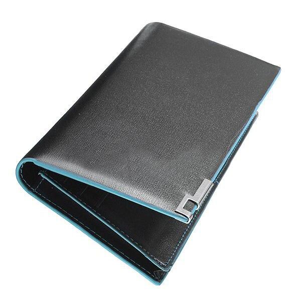 TEXU Mens Soft Leather Bifold Long Wallet Card Holder Pocket Clip zelda wallet bifold link faux leather dft 1857