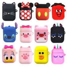 For AirPods Air pod Bluetooth Wireless Earphone Case Cute Cartoon Charging Box Case For Apple Airpods 1 / 2 Protect Cover Cases цена 2017