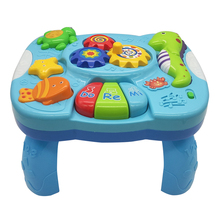 TOT Kids 2019 Lighting Music Marine Animal Electronic Piano Learning Table Education Interactive high quality Baby Toy Gift