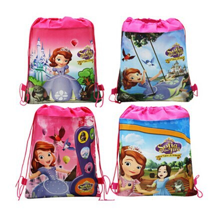 Lot of 12-30 Cars Kids Drawstring Backpacks School Shopping Party Bags