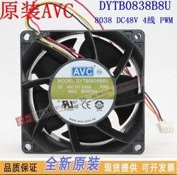 Nowy AVC DYTB0838B8U 8038 48 V 0.63A 8 CM 4 linie częstotliwości wentylator chłodzący