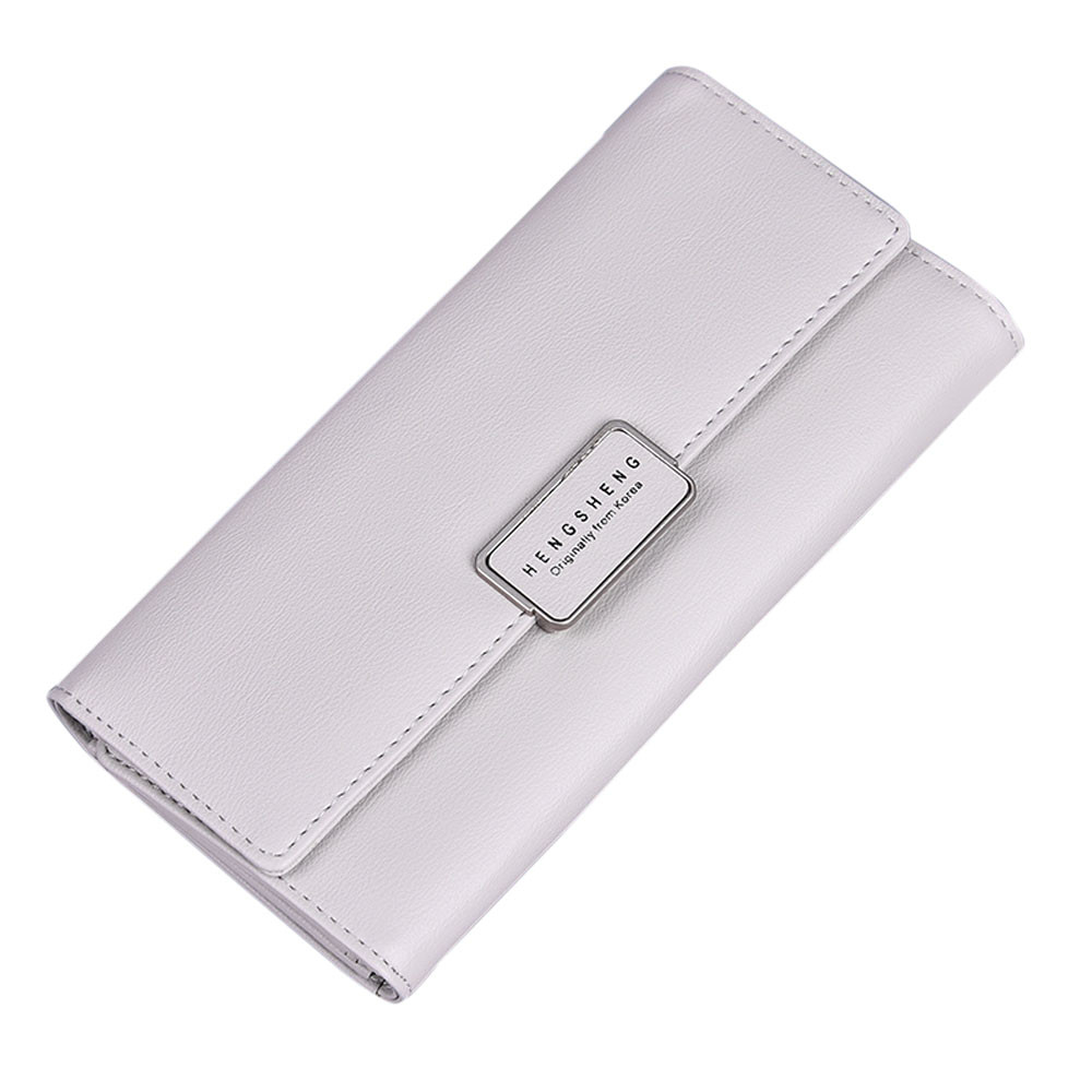 2017 New Women Fashion Leather Wallet Leisure Clutch Solid Bag Long Standard Wallets Purse High capacity Card Holder Wallets new fashion women leather wallet deer head hasp clutch card holder purse zero wallet bag ladies casual long design wallets