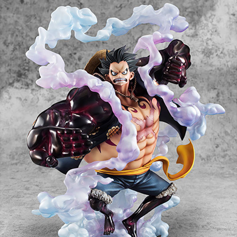 Anime One Piece SA-MAXIMUM P.O.P the Bound Man Luffy Figure Model Toys new arrival free shipping one piece watch strawhat luffy skull emboss watch anime embossment watches anime toys watches