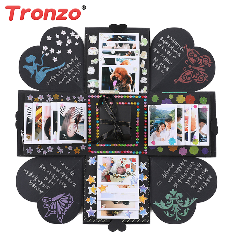 Tronzo Jumbo Explosion Box Love Memory Notes Photo Album Sticker Wedding Birthday Valentine Gift Box For Couple Girl Wholesale