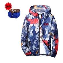 Dayiwa Women Summer Spring Fishing Clothing Outdoor Sports Fishing Climbing Hiking Full Zipper Couple outfit Camouflage Coat