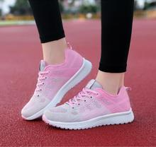 Fashion 2019 Casual Shoes Woman Summer Comfortable Breathable Mesh Flats Female Platform Sneakers Women Zapatos Deportivas Mujer недорого