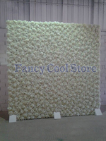 7 9FT X 7 9FT Pure White Wedding Flower Backdrop Flower Wall Wedding Stage Decoration Shop