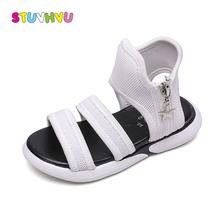 Girls Sandals fashion casual kids shoes summer new children's sports sandals for boys beach shoes black white girls flat shoes 2017 summer girls sandals boys sandals kids casual flat shoes for children footwear candy colors