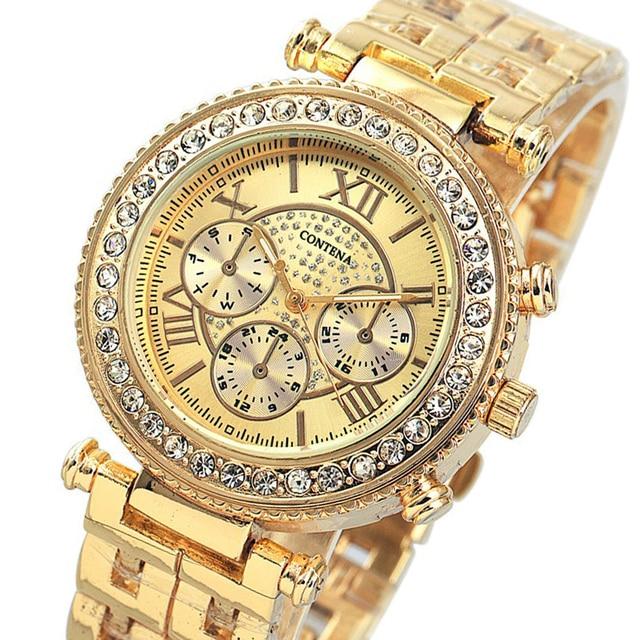 154e32323bc Relogio feminino 2018 Novo Famosa Marca de Luxo Mulheres Vestido Relógios  GENEBRA Senhoras Relógios de Ouro