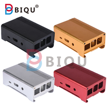 Wholesale 4 colors Metal Enclosure aluminum Box /Case with cooling fan for Raspberry Pi 3&2/Raspberry PI B+