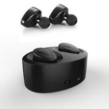 Близнецы Двойной Мини Беспроводной Bluetooth Наушники Громкой Связи Наушники для Apple iPhone 6 6 S 7 Плюс Bluetooth наушники С Зарядным Устройством Окне