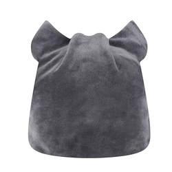 Новинка 2019 года KLV для женщин Cat дизайн мешковатые переплетения шапочка для сна зимняя Лыжная Шапочка Череп шапки Hat 1215