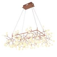 Кунг творческий ветка светодио дный подвесной светильник post Современный 85 см x 85 см Форма firefly светодио дный лампа Акриловая летучая мышь че