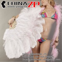 New Design Party Supplier CHINAZP Feathers Customized Available Fluffy Ostrich Marabou Feather Fan Dance Showgirl Costume