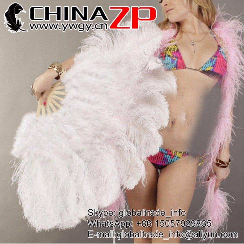 Nouveau Design parti fournisseur CHINAZP plumes personnalisé disponible moelleux autruche Marabou plume ventilateur danse Showgirl Costume