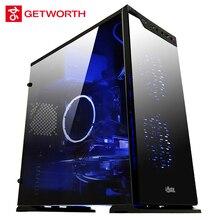 GETWORTH R32 Gamer Xtreme Gaming Desktop PC I5 7400 RX580 8G RAM 1 TB HDD WIFI Win10 Startseite Kühlen CPU Kühler VR Bereit MATX