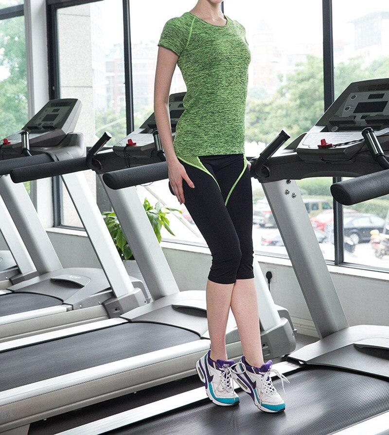 MAIJION Супер быстросохнущая женская футболка с короткими рукавами для тренажерного зала, фитнеса и йоги
