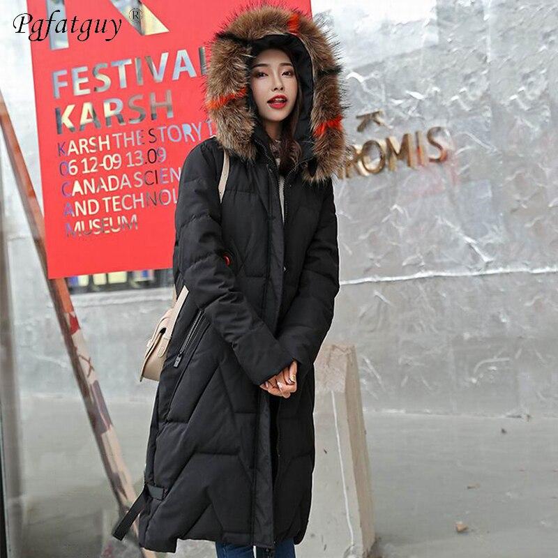 Chaud Camouflage Feminina Épaissir Capuchon Inverno Camouflage Parkas Longs black Vert Femmes Coton Noir Dames Fourrure Grand D'hiver green Manteaux Jaqueta À Rembourré wYqxaOO6g