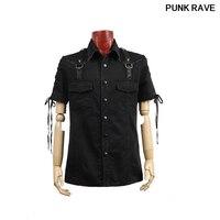 Gothic New Rock bandage black street cool T shirt Fashion Visual Kei Heavey Metal Black Men Top T Shirt L 3XL Punk Rave Y 530