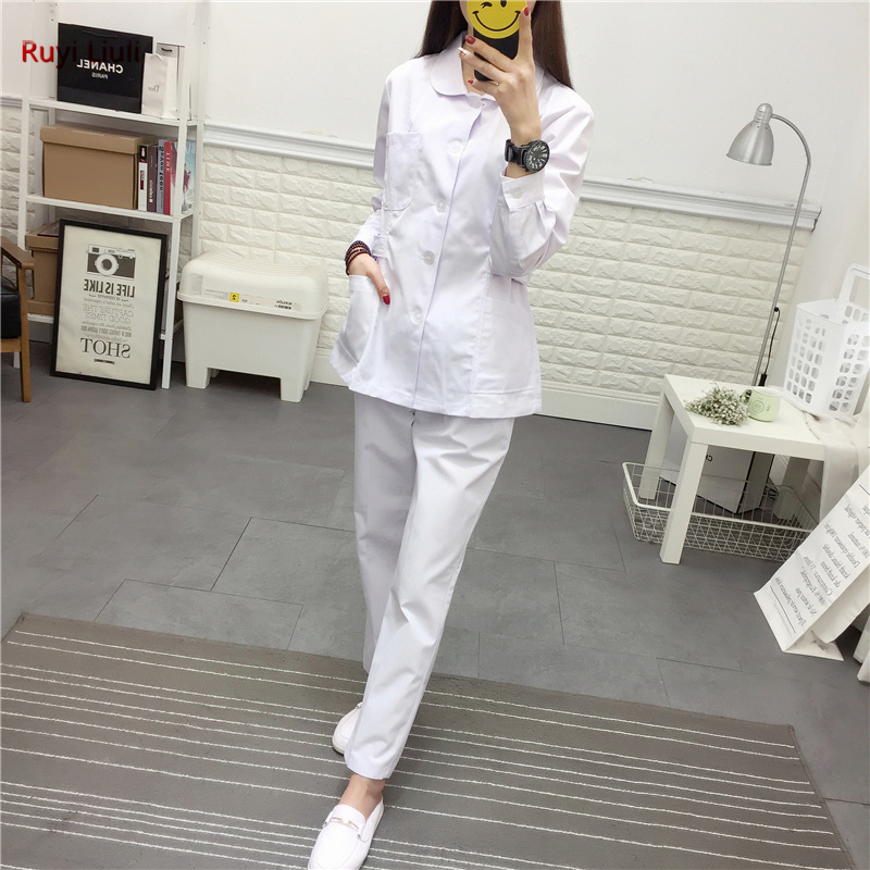 Ruyi L-Medical Wear Summer Doctor Sets Scrub Nurse Uniforms Hospital Clothing Lab Workwear Top And Pant Cheap Suits