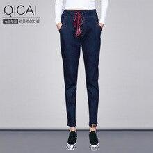 Весна 2016 джинсы drawstring эластичный пояс тонкий брюки женские товары оптом Alibaba