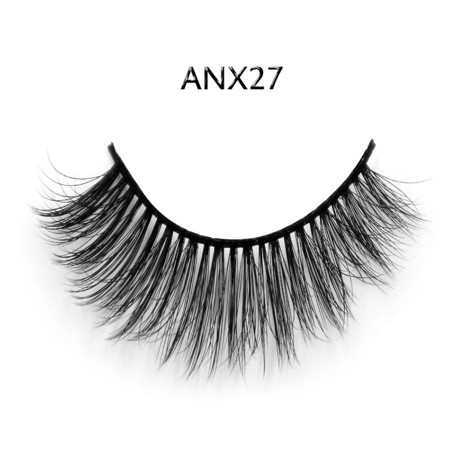 Sexy 3D Synthetic Hair Blue Black Cotton Stalk Thick Long False Mink Eyelashes Fake Eye Lashes Eyelash Top Quality ANX27