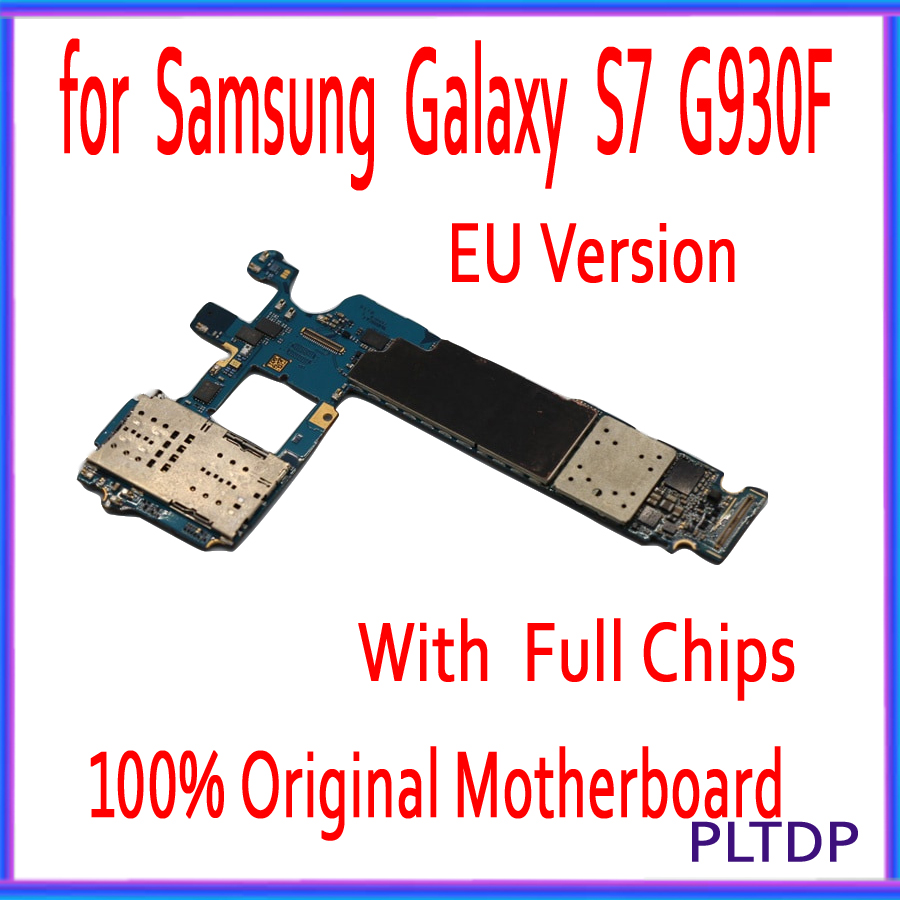For Samsung Galaxy S7 G930F/ G930FD Motherboard Original MainBoard Unlocked With Chips OS Good Working EU Version 32GB