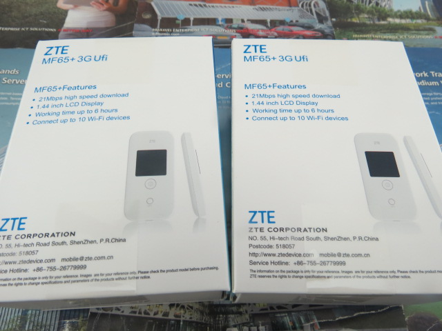 ZTE MF65+ 3G HSPA+ 21.6 MBPS MOBILE WIRELESS ROUTER