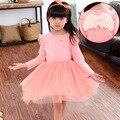Girl Winter Butterfly Princess dress Infant party dress 2016 Unicorn Print Children Kids Dress for Girls Autumn Dresses